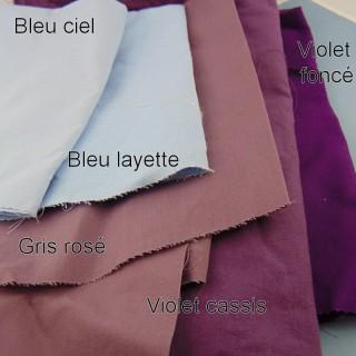 Coupon Ane de Solène tissu uni coton 30 x 30 cm