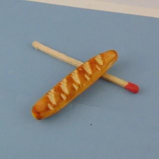 Baguette pain miniature maiso poupée 1/12