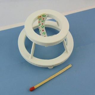 Trotteur youpala miniature maison poupée 4 cm