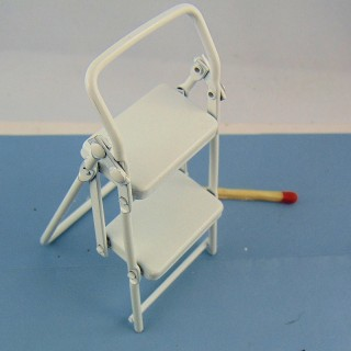 Stepladder miniature doll house,
