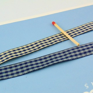 Band Vichy 1, 5cm, Retro-Plaid.