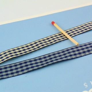 Check ribbon 1,5cm,vintage  Vichy ribbon