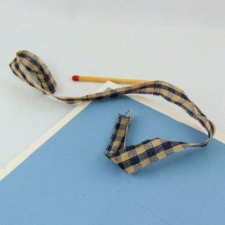 Cotton ribbon tie 1 cm wide 28 cm