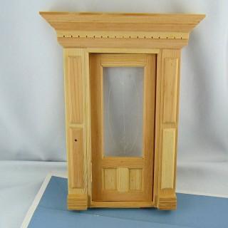 Escalera miniatura casa de muñecas en madera