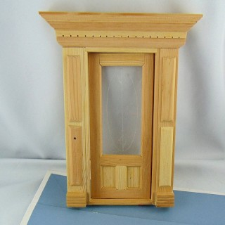 Miniature doll house front door 1/12