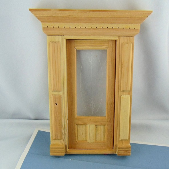 Miniature staircase doll's house out of wooden