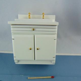 Vasque Lavabo miniatura muebles de caoba casa de muñecas.