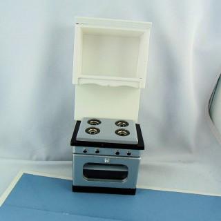 Muebles de cocina miniatura casa de muñecas 18 cm.