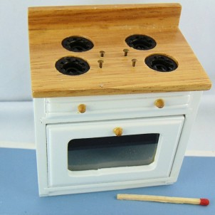 Furniture cooking miniature doll house 9 cm.