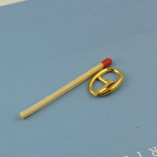 Boucle miniature ovale ardillon ceinture poupée  18 mm