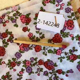 Coupon coton fleurs