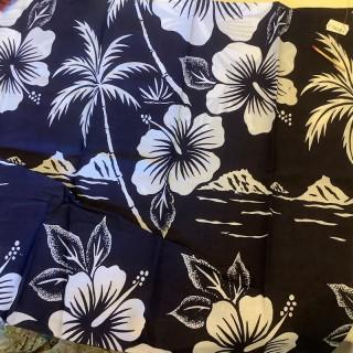 Coupon coton de Tahiti à fleurs