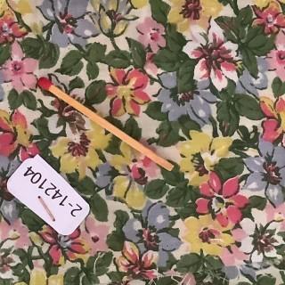 Coupon coton à fleurs