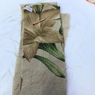 Large printed linen strip 12 cm wide