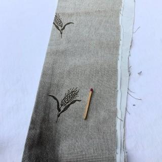 Banda de lino bordada de gran ancho 12 cm de ancho