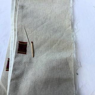 Bande de lin brodé grande largeur 18 cm