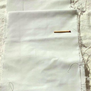 Bande de coton enduit grande largeur 17 cm