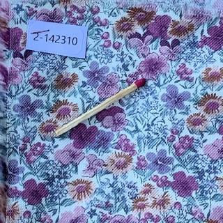 Tela de algodón de lana pequeñas flores por metro