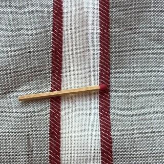 Tejido de lino a rayas de gran ancho en cupón