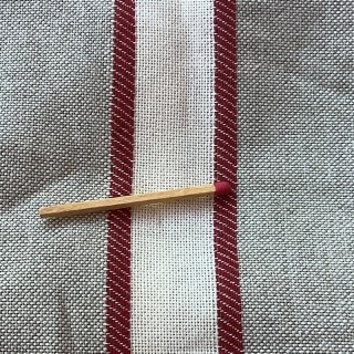 Large-width striped linen fabric in coupon