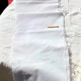 Tira de algodón recubierta de ancho 17 cm