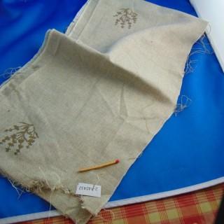 Banda de lino bordada de gran ancho 18 cm de ancho