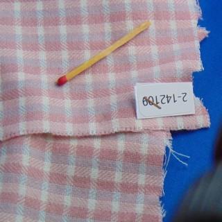 Coupon coton épais à carreaux 25 x 60cm