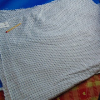 Coupon coton fin à petits carreaux 30 x 40cm
