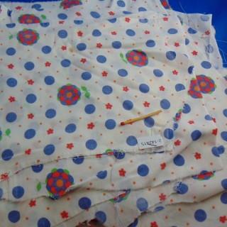 Coupon coton imprimé fin années 60 20x30cm
