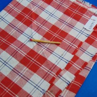 25 x 60cm cotton checkered coupon
