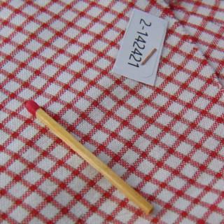 Coupon coton à carreaux 25x20cm