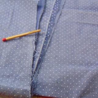 Coupon ancien coton fin à petits pois 30 x 40cm