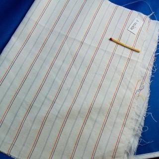 Cupón de algodón a rayas de 25 x 35 cm
