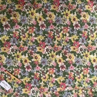 Flower cotton coupon 30x60cm