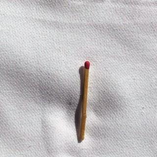 Coupon de coton ancien à broder largeur 55 cm