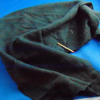 Coupon molletonné coton 20x50 cm