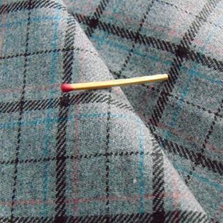 Cupón de tela de lana de 50 x 140 cm