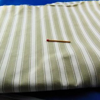 Coupon toile à matelas coton rayé 80x130 cm