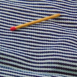 Coupon toile épaisse coton rayé 60x60 cm