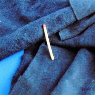 Cotton fleece coupon 25x170 cm