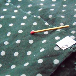 Coupon tisssu en coton à pois