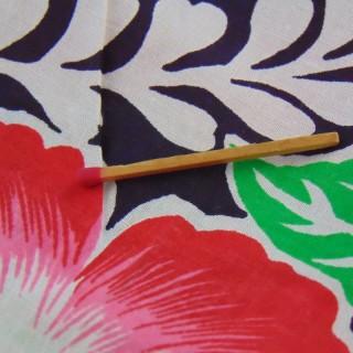 Cupón de algodón florizado tahitiano