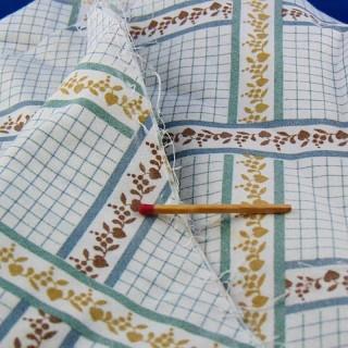 Tissu coton fin à carreaux au mètre