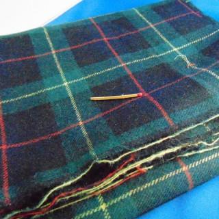 Tissu en laine écossaise douce 150x120cm