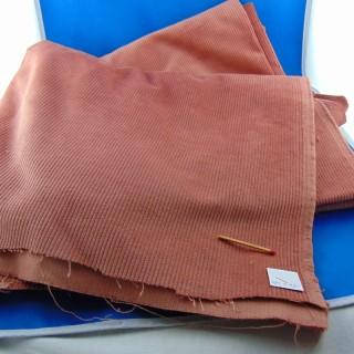 Coupon en velours côtelé en coton 150x130 cm