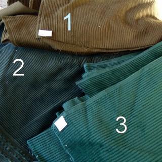 Coupon en velours côtelé en coton 150x120 cm