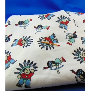 Fancy cotton fleece coupon 160x50 cm