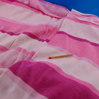 Coupon jersey rayé coton 150x140 cm