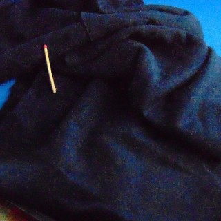Coupon molletonné coton 25x170 cm
