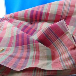 Viejo algodón madras cupón 100x300cm